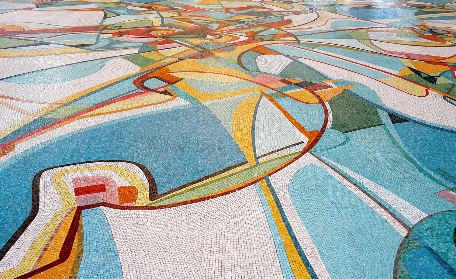 Alex Janvier Rogers Place detail