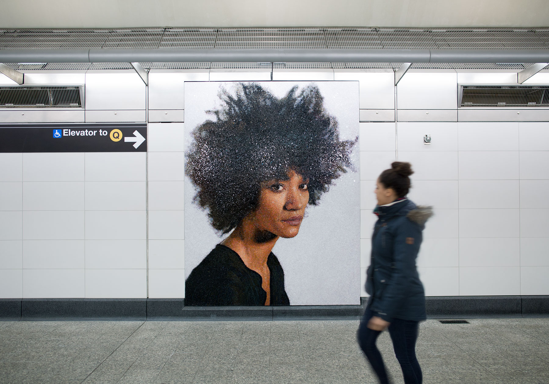 Chuck Close Subway Portraits