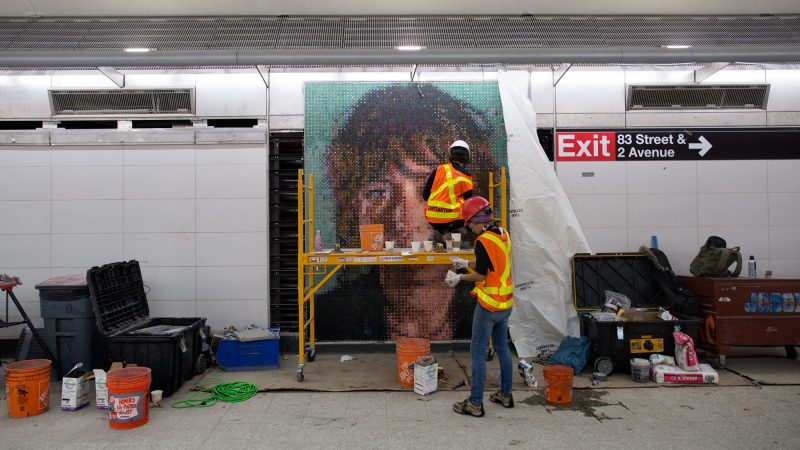 Chuck Close – Subway Portraits – November 2016 Installation