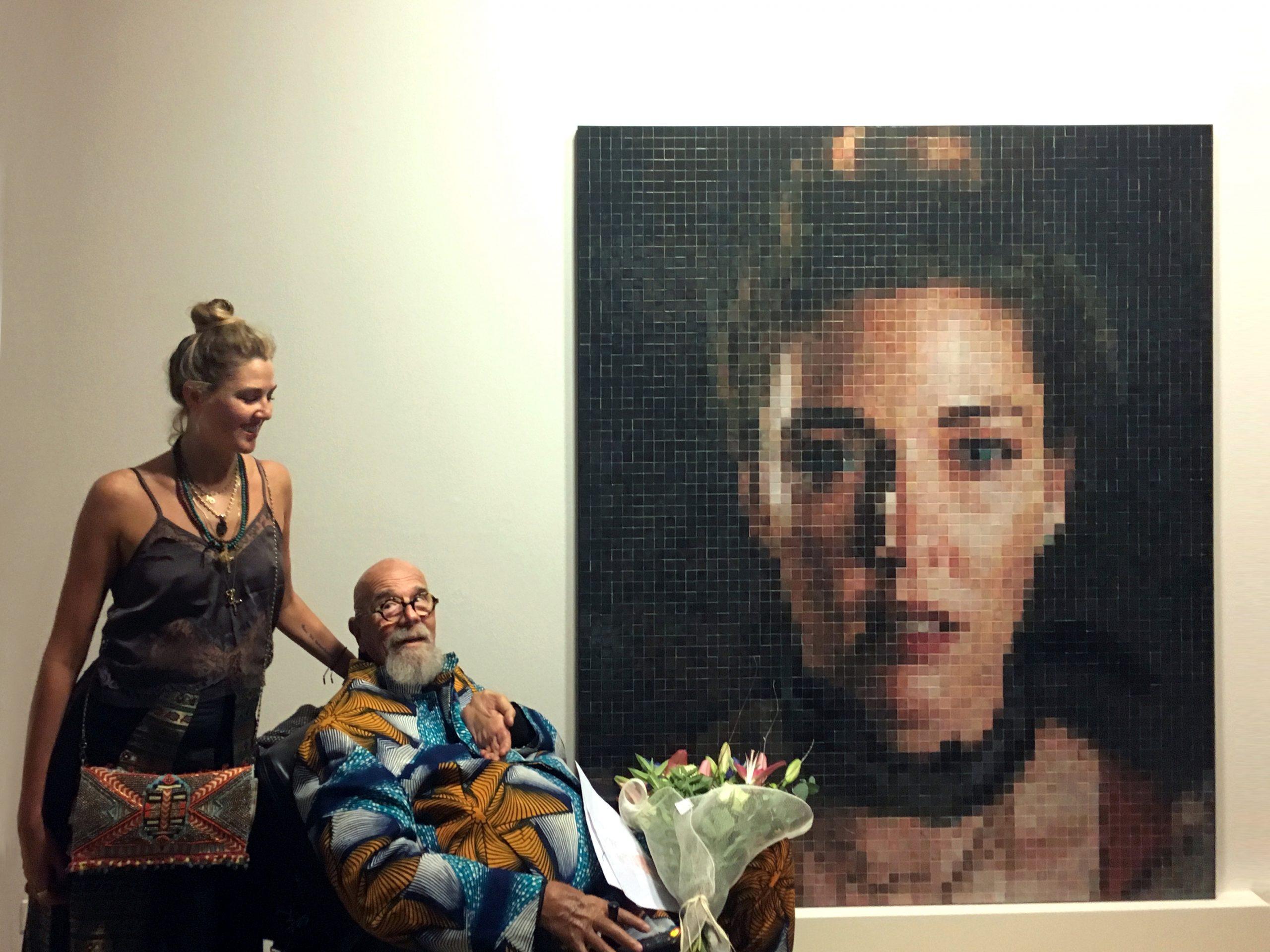 Chuck Close and Suzanne