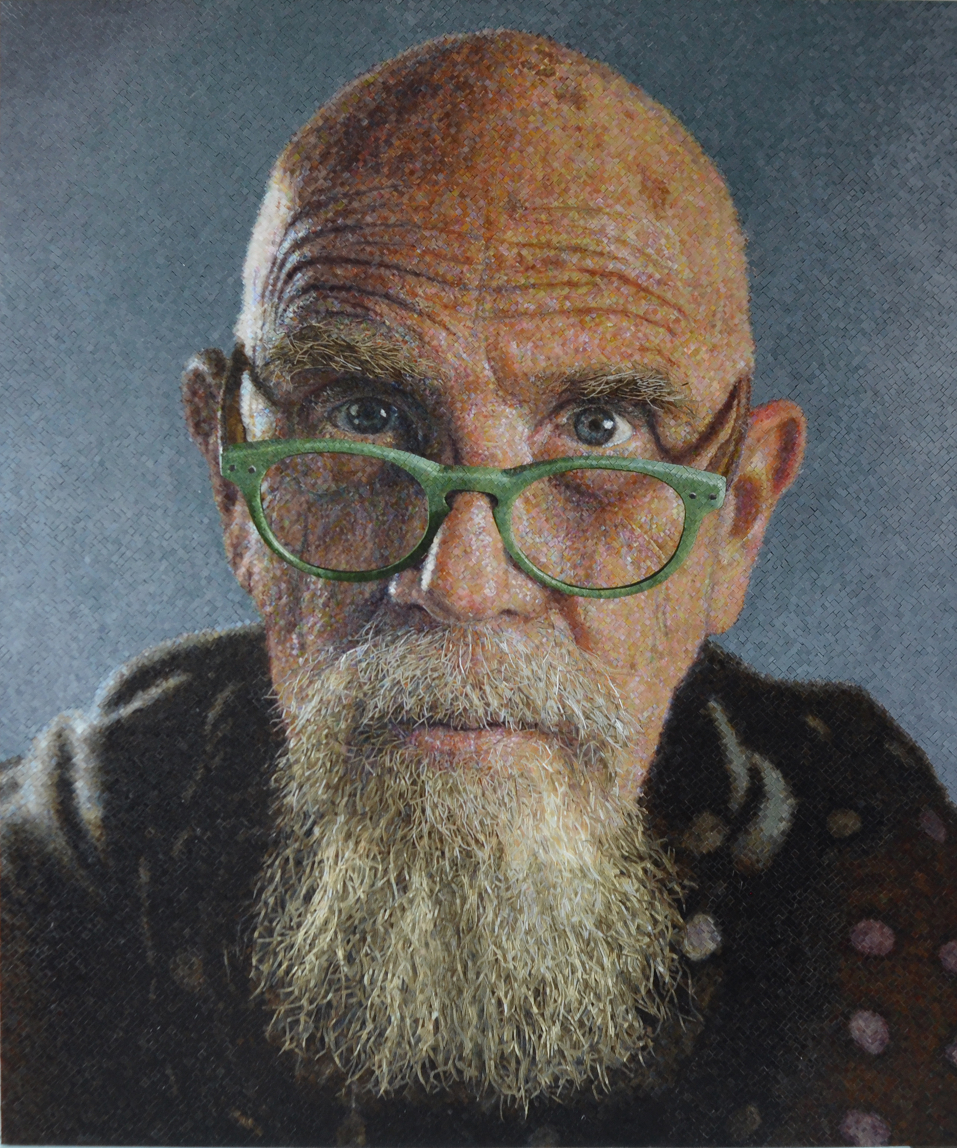 Chuck Close MAR Ravenna Jade Glasses mosaic FULL