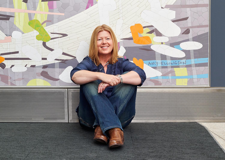 Amy Ellingson Aérogare 3 auto-portrait