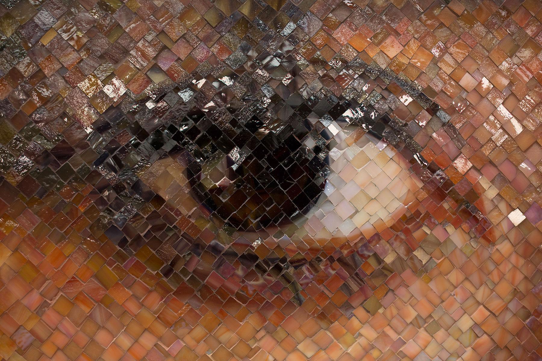 Sienna_Chuck Close Subway Portraits detail