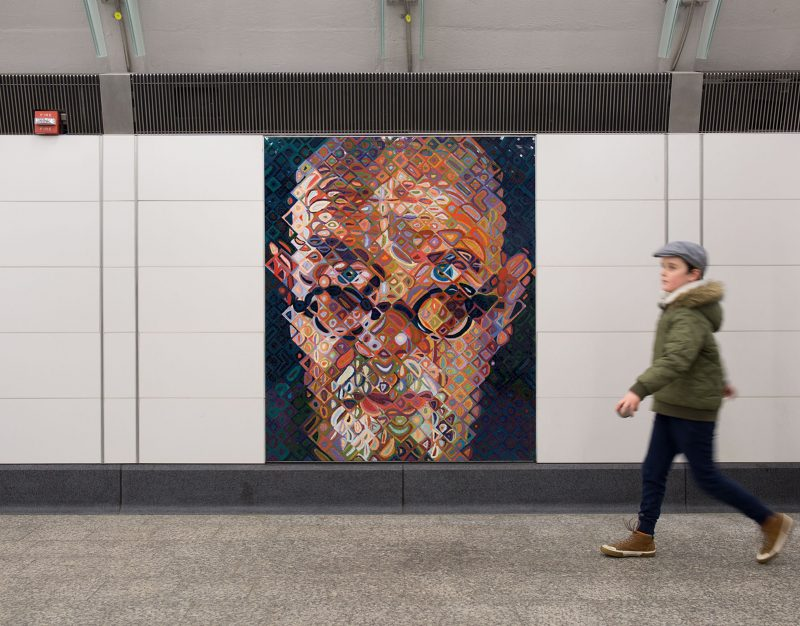 CHUCK CLOSE- Subway Portraits