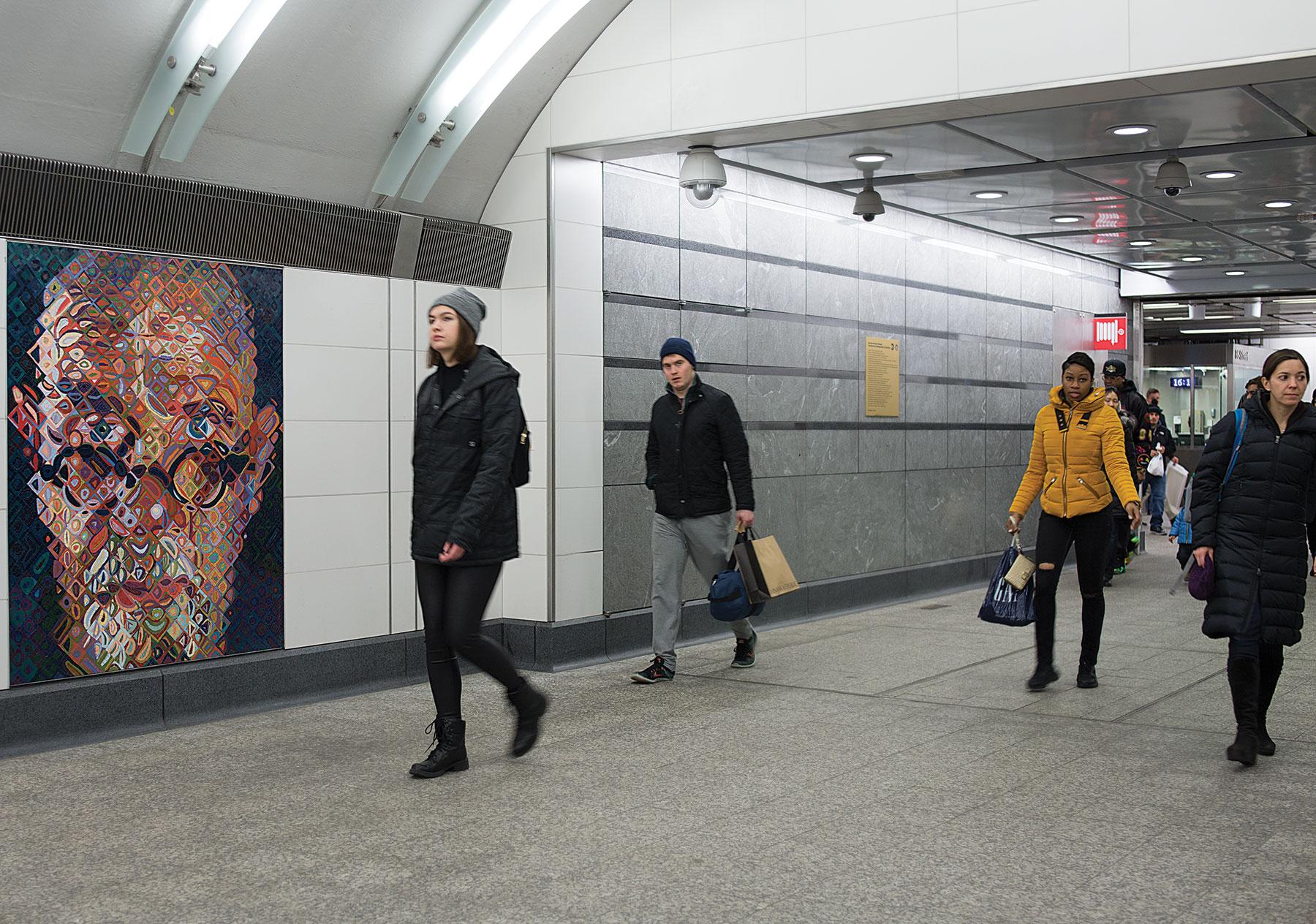 Chuck Close Subway Portraits